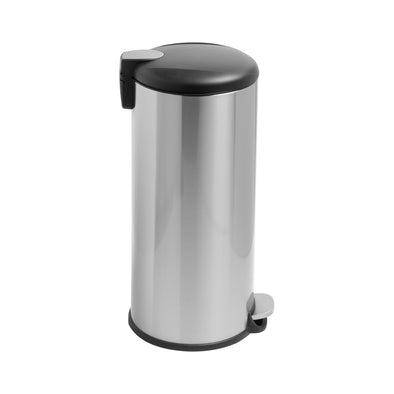30L Soft-Close Round Stainless Steel Trash Can