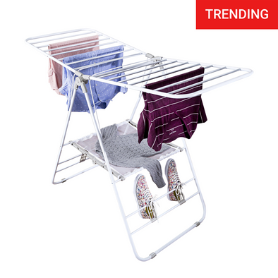 Heavy-Duty Gullwing Clothes Drying Rack