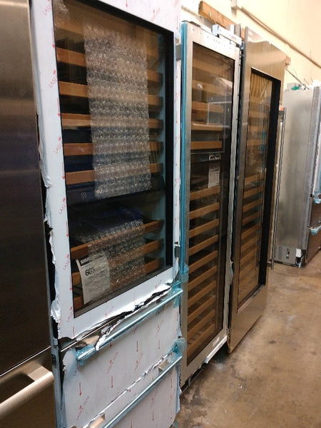"subzero 27"" wine cellar fridge open-box highend refurbished appliance outlet"