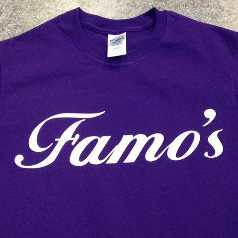 Restaurant Staff Uniform T-Shirt - Purple T-Shirt w/White Lettering