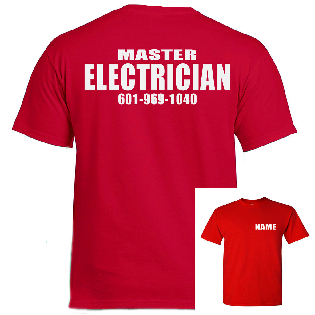 Electrician Work T-Shirts (MINIMUM ORDER OF 10 MIX SIZES)