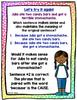 Cause and Effect Task Cards and Anchor Charts