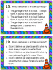 Fragment and Run-on Sentences Task Cards and Anchor Charts