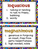 Fancy Vocabulary Word of the Week for 5th-9th Grade