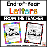 End of Year Letters from the Teacher