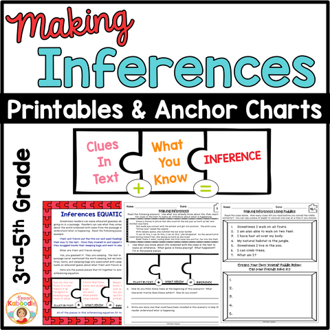 Making Inferences Reading Passages and Printables