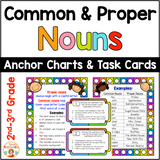 Common and Proper Nouns Anchor Charts and Task Cards