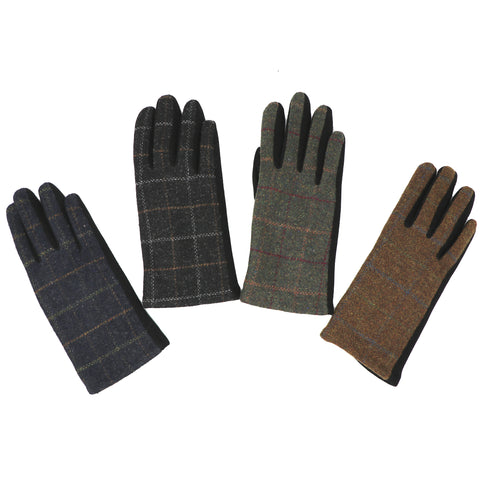 Tweed Tartan Gloves - Men