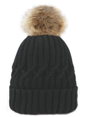 Adult single Pom-pom hat