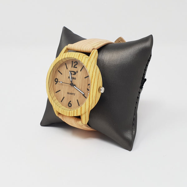 Faux-Wood Design Watch