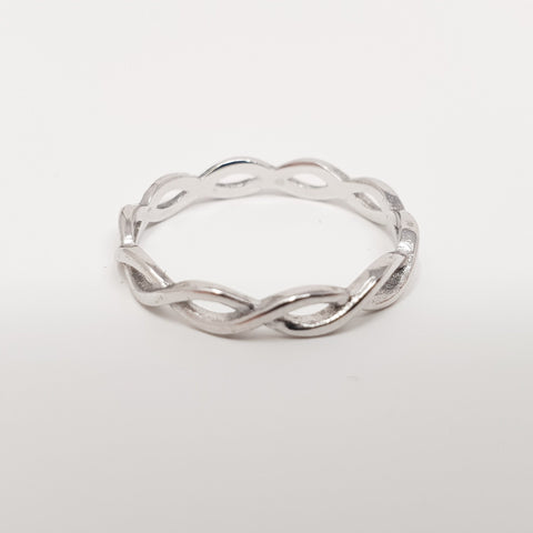 Sterling Silver Celtic Interlace Ring