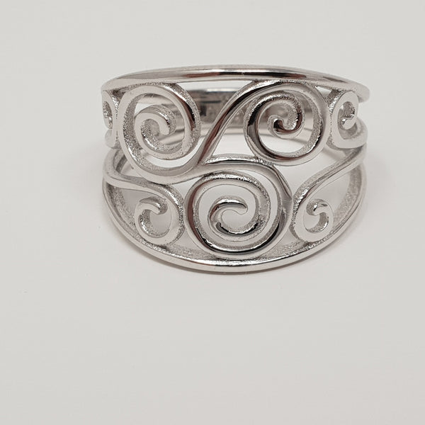 Sterling Silver Ring Celtic Spiral