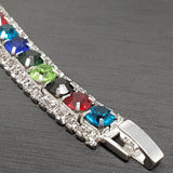 Large Tennis Bracelet with Crystals