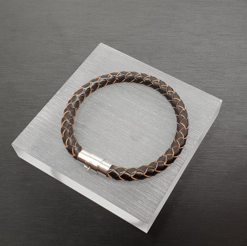 Plain bracelet brown