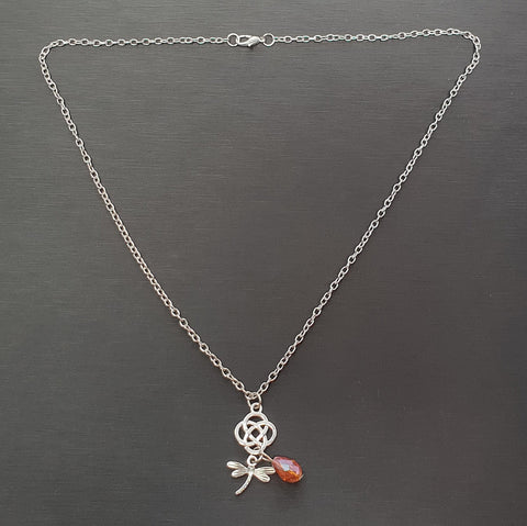 Celtic Knot with Dragonfly Necklace