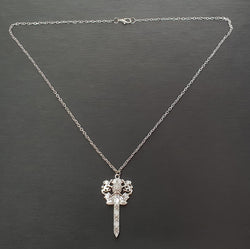 Thistle Claymore with Lions Necklace