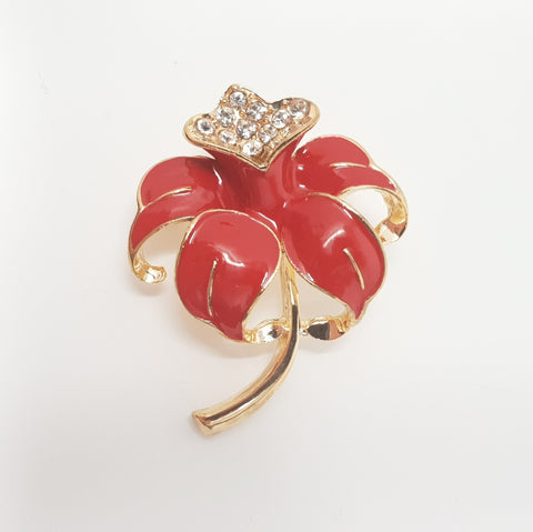 Poppy Bloom Brooch