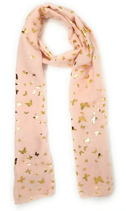 Small Gold Butterfly Scarf