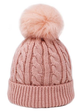 Single Pompom kids Hat