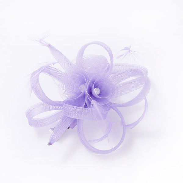 Fascinator Clip 3 Flowers with Diamante