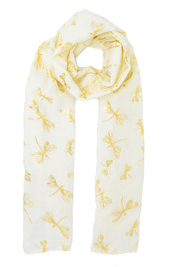Gold Dragonfly Scarf