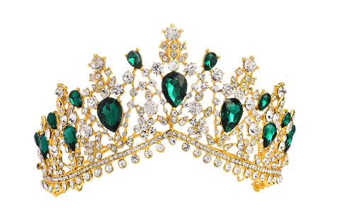 Royal Tiara Green Stones