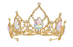 Royal Tiara Multicolour Stones