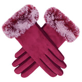 Fur Plain Gloves