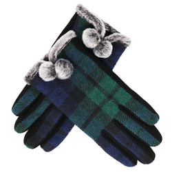 Traditional kids tartan gloves