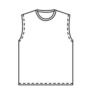 Crew Neck Sleeveless Baseball Jersey Sublimated - Customizable Made in USA