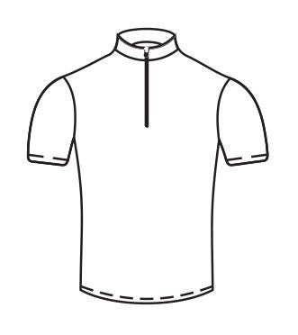 Half-Zip Cycling Jersey Short Sleeve Sublimated - Customizable Made in USA