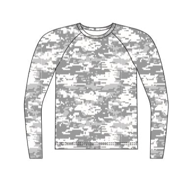 Camo Hunting Top Long Sleeve Sublimated - Customizable Made in USA