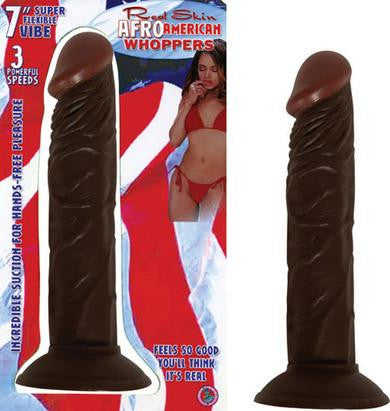 Afro American Whopper 7 Inch Vibrating - Brown