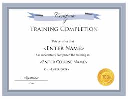 THREE (3) HOUR DUPLICATE CERTIFICATE OF COMPLETION - CA