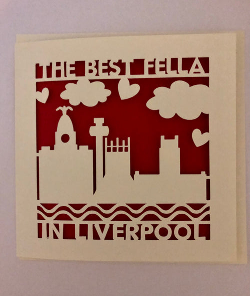 Best Fella in Liverpool - Greeting Card
