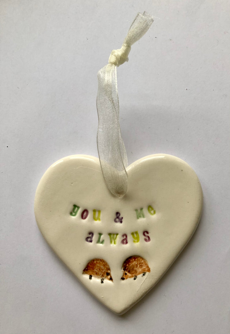 You and Me Always - Ceramic Heart