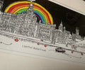 Rainbow over Liverpool by Freida Mckitrick