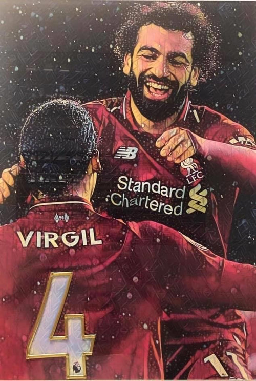 Mo Salah and Virgil Van Dijk Glass and Lead