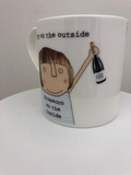 Happy on the Outside - Large bone china mug