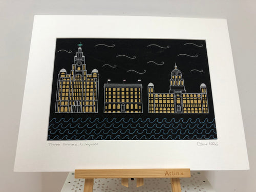 Three Graces, Liverpool -Dot Art