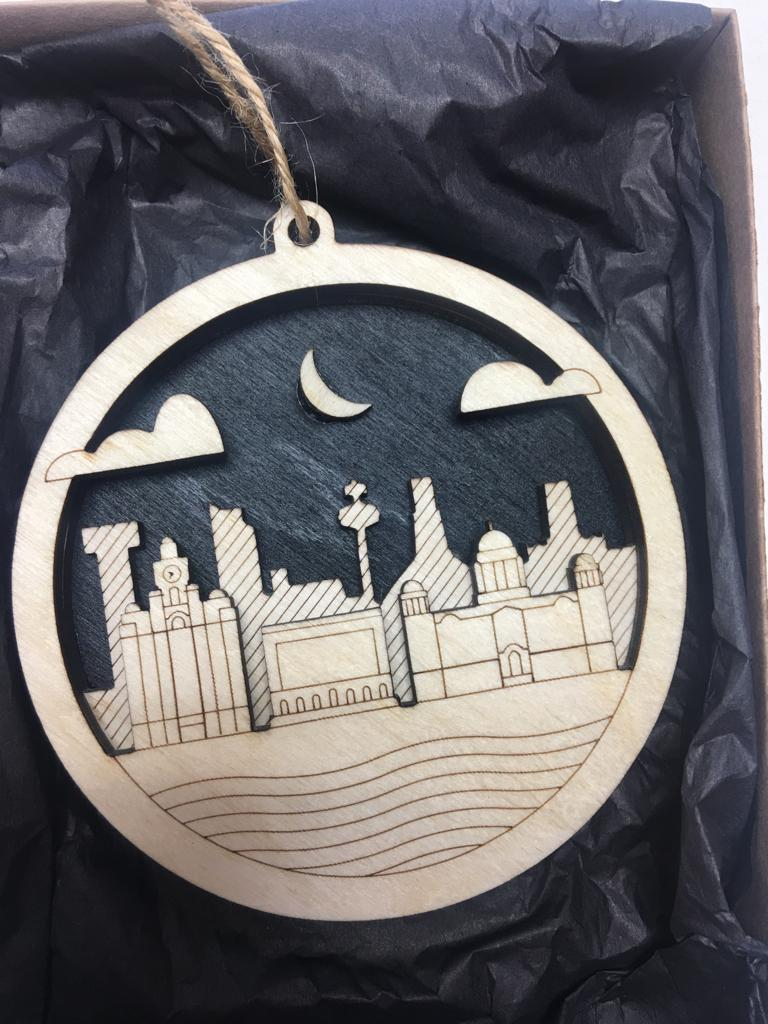 3D Liverpool Ornament