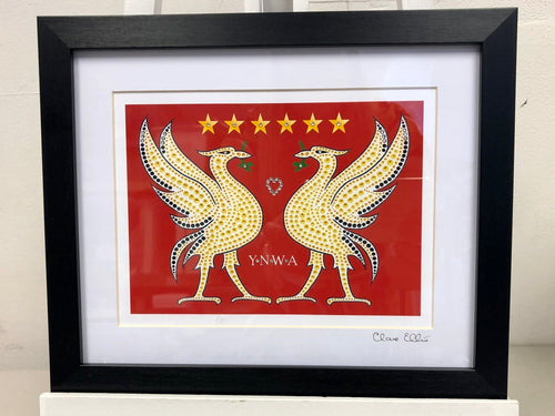 Framed Red Liver Birds - LFC