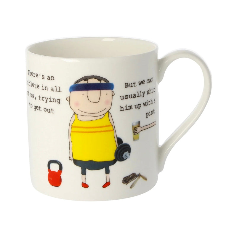 There's an athlete in all of us - Large Bone China Mug