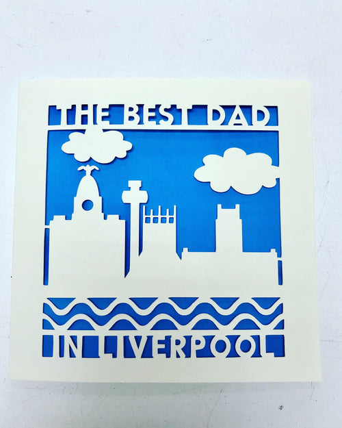 Best Dad in Liverpool Card