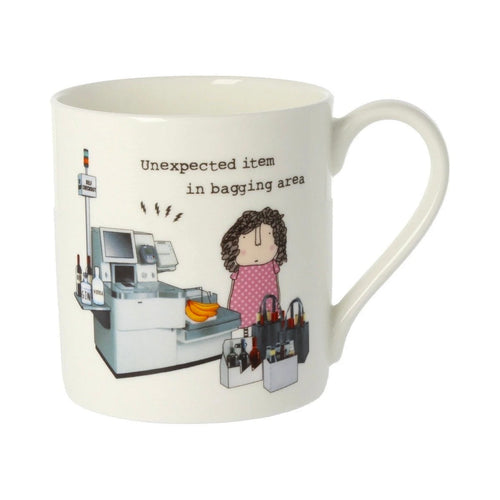 Unexpected Item in Bagging Area  - Large Bone China Mug