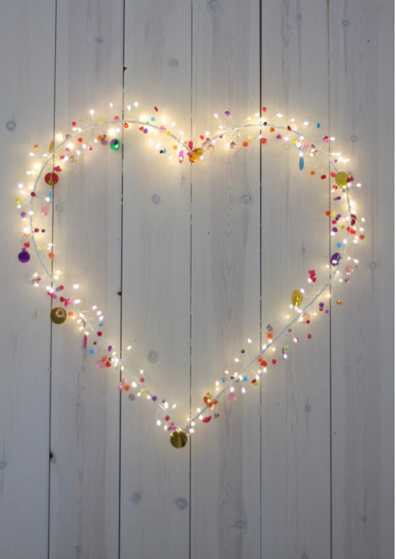 Light Up Jewelled Heart