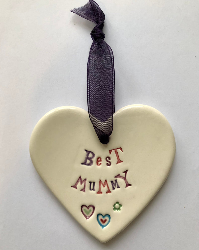 Best Mummy - Ceramic Heart