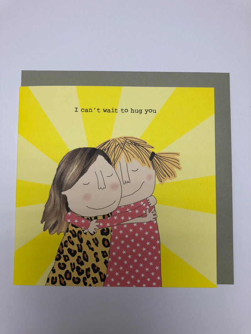 I can't wait to Hug you - Greetings Card