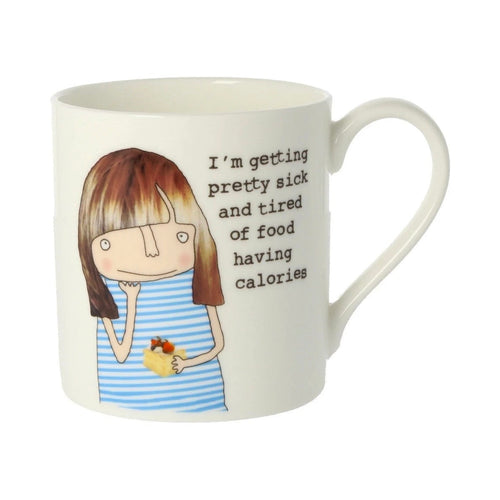 Tired of Food Having Calories  - Large Bone China Mug