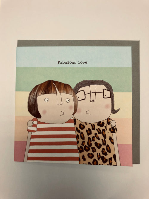 Fabulous Love (Female) - Greetings Card